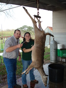 My brother, me and my doe (i got 2 in one shot!)