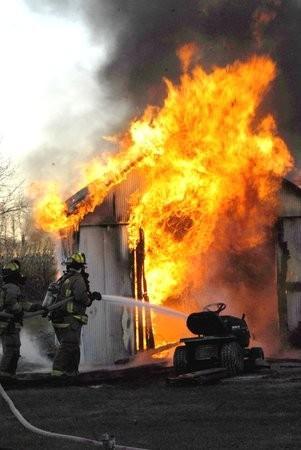 Garage Fire Halloween 2008