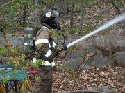 me hosing the blaze
