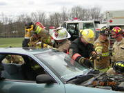 vehicle rescue class, me in the yellow helmet