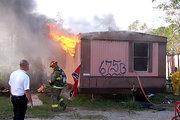 redneck trailer house on fire