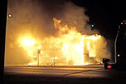 Restaurant fire on thanksgiving
