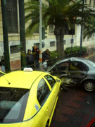 Crash in the city centre (Athens, Greece)