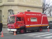 Fire truck in Paris, France