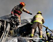 300 cars fire princeville canada