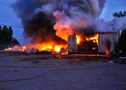 farm garage building fire