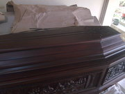 coffin teak wood