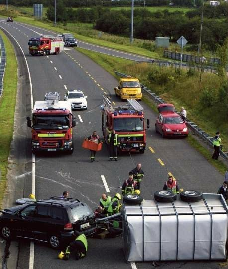 Accident on the Dual Carriageway