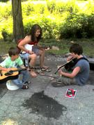 The Neighbor, Me, and My Lil' Bro Playing Guitar