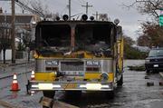 burned engine during Sandy