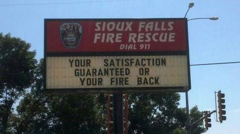 souixfalls satisfaction sign