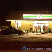 SCPD on scene at 7/11 armed robbery in Mastic Beach Wednesday, Jan. 29, 2014. At approx. 2 a.m.
