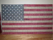 American Flag From Fire Hose