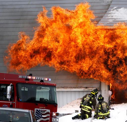 Iowa Barn Fire