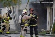 Heating grease causes house fire