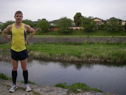 Kamogawa 10Km race in Kyoto, 5Km point