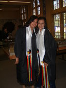 Image 8th grade graduation with friend June 2006
