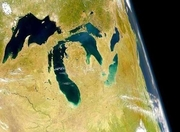 Great Lakes, from space. Hello out there!