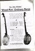 Windsor Grand Solo Wood Rim banjo