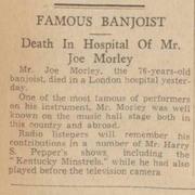 Sep 17 1937, The Western News and Morning Gazette. Death of Joe Morley