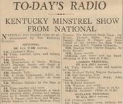 Jan 23 1936, The Derby Evening Telegraph. Joe Morley, Tarrant Bailey Junior and the Kentucky Minstrels on the wireless