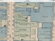 1885 map showing the Stewart factory.