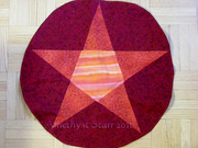 16 inch pentacle red altar cloth