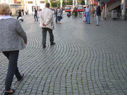 cobble path w/people