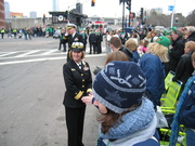 Waiting for the parade to start.