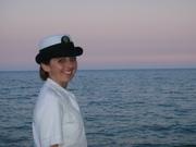 """At the """"beach"""" on base at Great Lakes"""