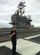 Serving on the USS Lincoln!