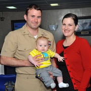 Navy event with family