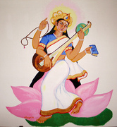 Saraswati_painted_by_Narayani