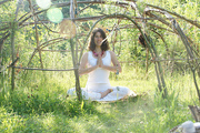 Yoga Asanas in nature - Yoga Vidya Ashram Germany