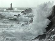 La pointe du raz sous la tempête