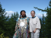 With Shaman Zorigtbaatar Banzaar at Lake Huvsgal, Mongolia