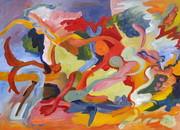 o Tone Poem Styx d'Avignon  acrylic on canvas  20 x 27.75
