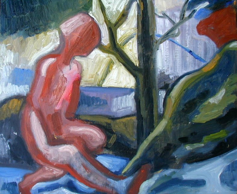 figure at riverbank (2009)