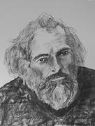 74-Portret Houtskool van Jan Verwest door Serge