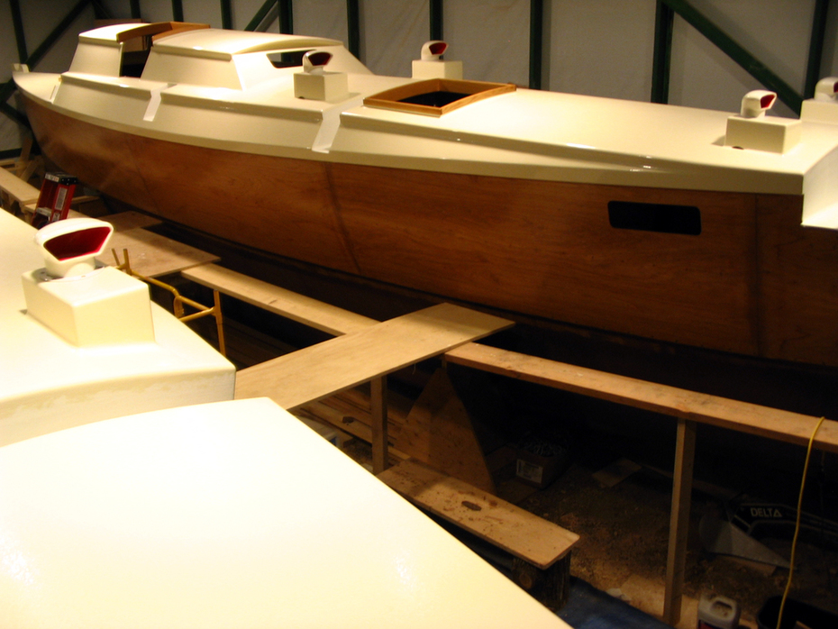 175.Decks glassed, faired & painted1