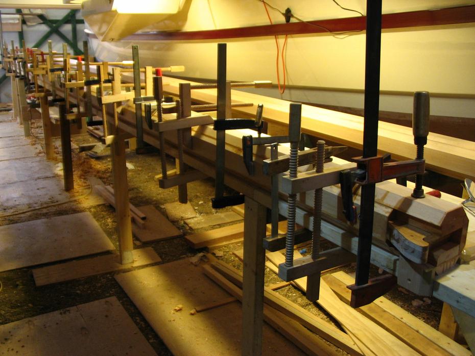 211.Masts glued up