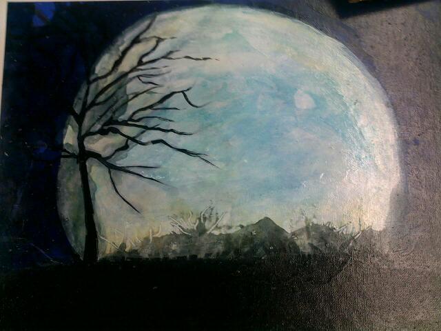 Full Haunting moon