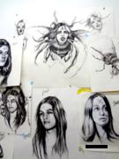 preliminary sketches/manson girls