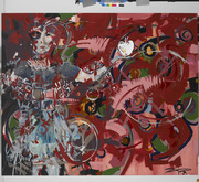 Last Seen/ ©2009/ acrylic and oil on prepared canvas/ 182.88 x 152.4 cm (72 x 60 in)