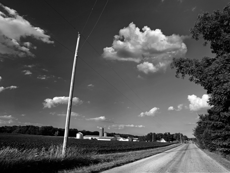 Along County Road 121