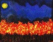 Autumn Moon, Acrylics on Canvas, 16 by 20, $2200
