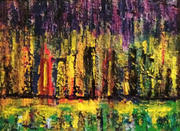 City Lights, Acrylics on Canvas, 9 by 12, $1100