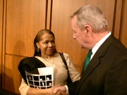 At the hearing in Washington, Feb 25, 2014 the M.I.S.S. founder had a brief conversation with Senator Durbin about our organization and the torture some M.I.S.S. members' children endure in isolation.