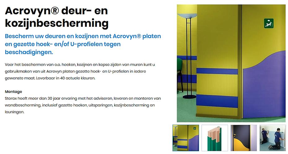 Acrovyn deur-en kozijnbescherming