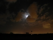 An eve with clouds and moon